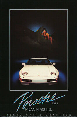 Poster: Transportation : Mean Machine - Porsche 928S - Free Shipping      Rp68 X