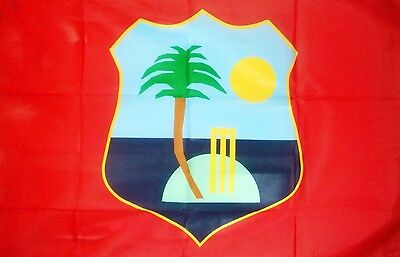 WEST INDIES CRICKET 5 X 3 FEET FLAG polyester fabric TEAM WINDIES CARIBBEAN