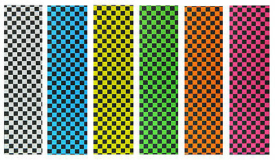 "Skateboard Checker Grip Tape 9"" x 33"" Multiple Colors to Choose"