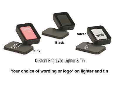 Personalized Lighter & Tin. Pick your color-FREE Engraving Words, Logos