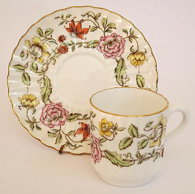Spode Floral Tapestry Cup & Saucer