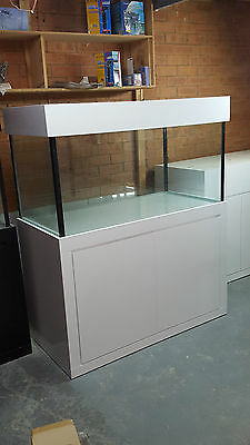 4ft x 2ft x 2FT Aquarium- Glass Fish Tank Modern Style Cabinet,Hood and Base New