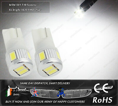W5W T10 Wedge White LED SMD Truck Side Lights Parking Bulbs Sidelights 12v 24v