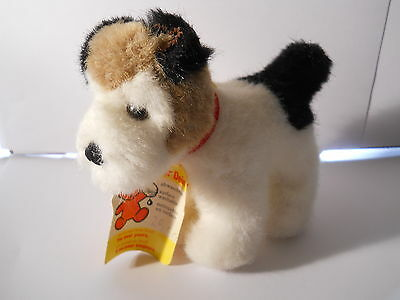 "STEIFF MINIATURE DOG ""FOXY""  1970'S WITH TAGS #1528/11 MADE IN GERMANY"