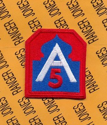 US Army 5th ARMY Odd RED 5 SSI shoulder patch