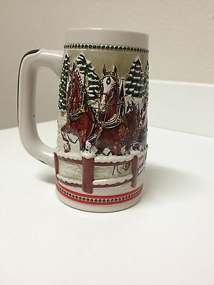 1984 Budweiser Clydesdales with Covered Wagon Beer Stein
