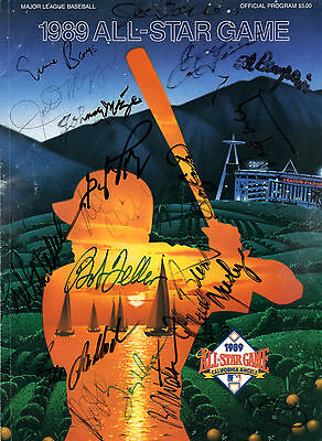 1989 MLB All Star Program Signed By (18) with DiMaggio, Banks - JSA LOA