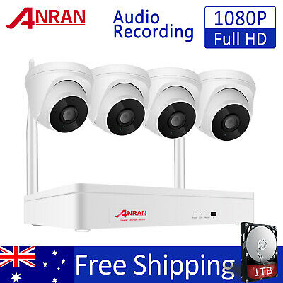 1080P 8CH Security Camera System Wireless Outdoor with 1TB HDD WiFi 2.0MP Camera