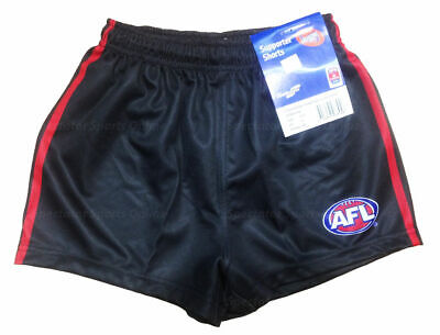 Official AFL Footy Essendon Bombers Team Playing Shorts - Kids Boys Youth Mens