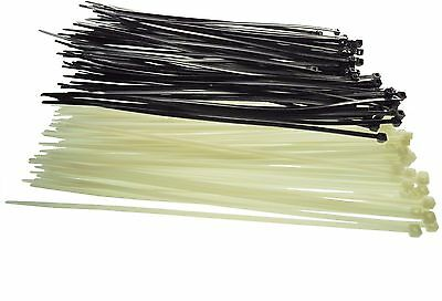 Very Strong HEAVY DUTY Cable Ties, Tie, Wraps, Zip Cable Tidy Black, Neutral