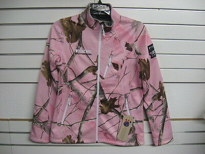 NEW! 2014 FXR WOMENS ELEVATION FULL ZIP FLEECE SOFTSHELL REALTREE AP PINK