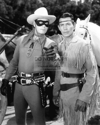 "Clayton Moore & Jay Silverheels ""The Lone Ranger""  8X10 Publicity Photo (Aa-124)"