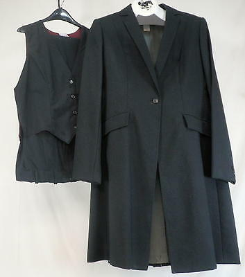 Reed Hill Ladies Saddleseat suit 3 piece Black Wool Blend 18 - Made in USA
