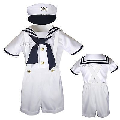 10f16197a BABY BOY   Toddler Sailor Captain Vest Shorts Outfits Navy sz 0