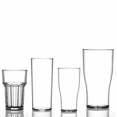 ELITE Solid Strong  Plastic Glasses Reusable Party Beer CE Marked Drinks Outdoor