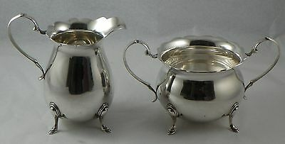 Cream and Sugar.  J. Wagner & Son Sterling Silver Georgian Style