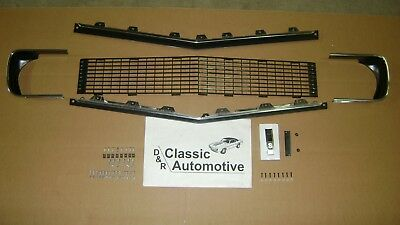 Grill Kit 89pc w/ Moldings/Hardware/Bezels/RS Emblem w/Chrome Highlight 67 68 RS