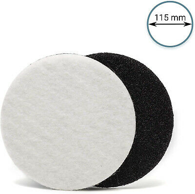 4.5'' 115mm GP-PRO Felt Polishing Pad Set, Polishing Glass, Plastic, Metal,Stone
