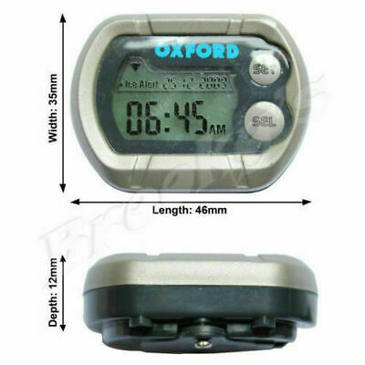 OXFORD Motorcycle Motorbike Trail Bike Dirt Bike 100% Waterproof Micro Clock
