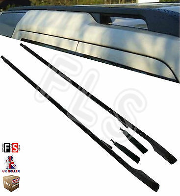DISCOVERY 3 & 4 OEM STYLE BLACK ROOF RAILS BAR RACK STEPS - DIS4ROOF BLK