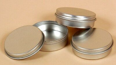 2oz Flat Tin Round Containers w/screw on Lids 12  NEW Candles, Spices, Beads