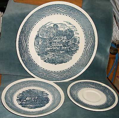 """16 Pieces Taylor Smith & Taylor U.S.A. Ironstone """"Currier & Ives"""" Pattern"""