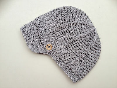 Baby Boy Crochet Cotton Hat Various Colours **Very Popular**