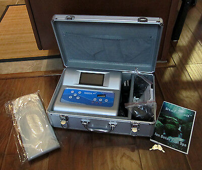 Dtoxa-Cell – Ion Foot Spa - Detoxification System & Travel Case With Keys - New
