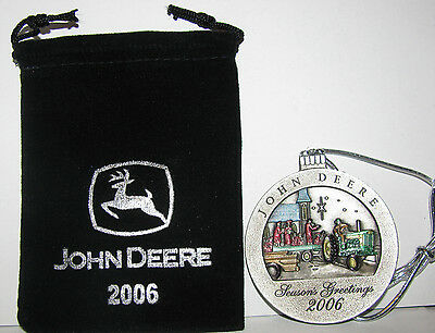 2006 John Deere 720 Tractor Collectors Christmas Pewter Ornament 11th  Series jd