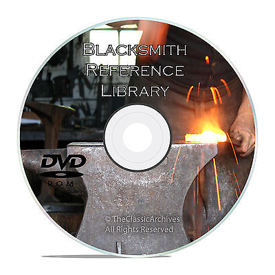 Classic Blacksmith Reference Books on DVD, Learn About Forging, Iron Working V30