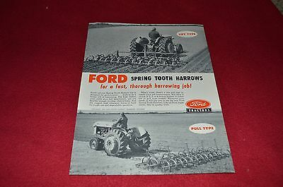 Ford Tractor Spring Tooth Harrows Dealer's Brochure LCPA