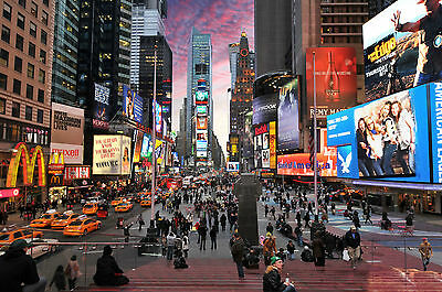 photo landscape art print new york time square satin paper 700mm