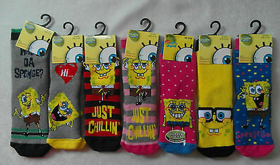 SLIPPER SOCKS WITH GRIPPERS for Boys & Girls - SpongeBob Squarepants