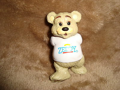 "Zellers Mascot Teddy Bear ZEDDY PVC Figure 2.5"" tall arms behind back"