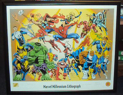 Marvel Millenium Dynamic Forces Litho Signed by Dan Jurgens, Jerry Ordway +