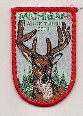 SOUVENIR PATCH - STATE OF MICHIGAN - WHITE TAILED DEER