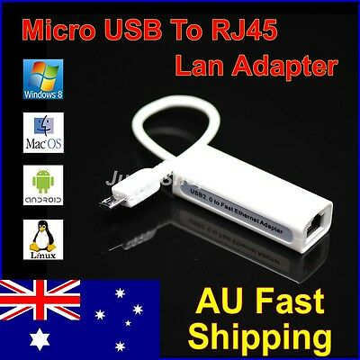 Micro USB 2.0 to RJ45 LAN Ethernet 100Mbps Network Adapter for Tablet PC UMPC