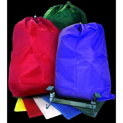 "NYLON REUSABLE LAUNDRY BAGS 22"" x 28"" YOU CHOOSE COLOR GREAT FOR COLLEGE"