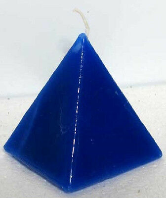 Win In Court Blue Pyramid Candle Wicca Pagan Hoo Doo