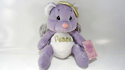 Purple & White ANGEL Bear PEACE by Precious Moments Tender Tails 2000