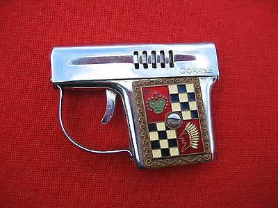 Vintage Petrol Lighter  Corona In A Shape Of A Small Pistol