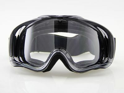 Snow ATV Ski Motorcycle Off-Road Goggle Eyewear Black Frame Clear Lens NEW