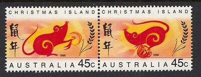 Stamps Australia  Christmas Island  1996 Year Of The Rat Stamps  (Mnh}