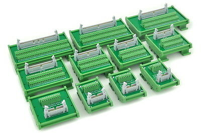 IDC Male Header DIN Rail Mounted Interface Module, Breakout Board,Terminal Block