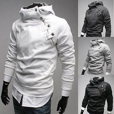 New Men's Korean Fashion Slim Fit Sexy Top Designed Casual Hoodies Coats Outwear