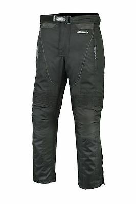 Rksports 2121 Waterproof Motorbike Motorcycle Black Mens Textile Trousers