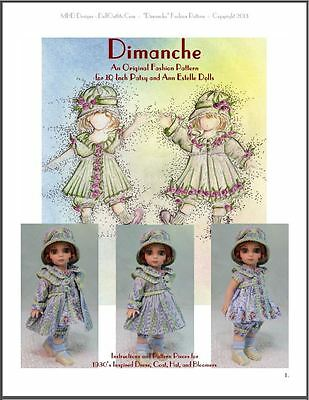 """""""Dimanche"""" Fashion Pattern for 10 Inch Tonner Ann Estelle and Patsy"""