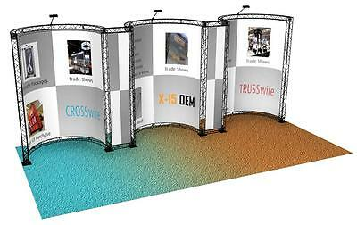 TRADE SHOW BOOTH COLLAPSIBLE TRUSS DISPLAY 10 x 20 PORTABLE POP OUT BANNER STAND
