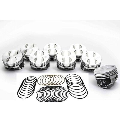 Speed Pro/TRW Ford 302/5.0 HO Forged Coated Flat Top Pistons+MOLY Rings Kit +40