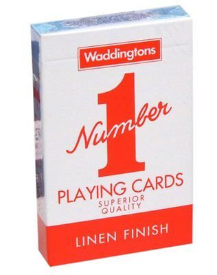 2x Waddingtons Number 1 Playing Cards Sealed Red and Blue - 31011